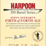 Harpoon's Firth of Forth – 100 Barrel Series