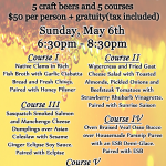 5 Course Beer Dinner this Sunday at Cape Ann Brewing Company – MA (5/6)