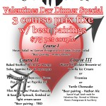Cape Ann Brewing Valentines Day Prix Fixe Dinner 2/14/12 MA)