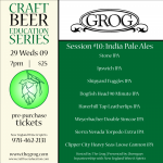 REVISED – Craft Beer Education Series Session #10 moved to Apr 29