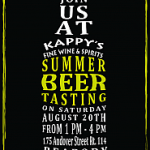 Beer Tasting: Kappy's Peabody Grand Tasting – Tomorrow 8/20 (MA)