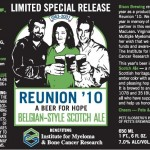 Beer Collaboration – Reunion Beer – Belgian Style Scotch Ale