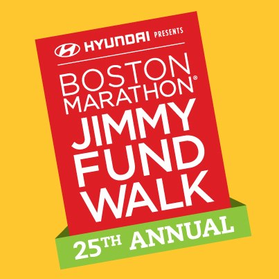 Logo for the 25th Annual Jimmy Fund Walk