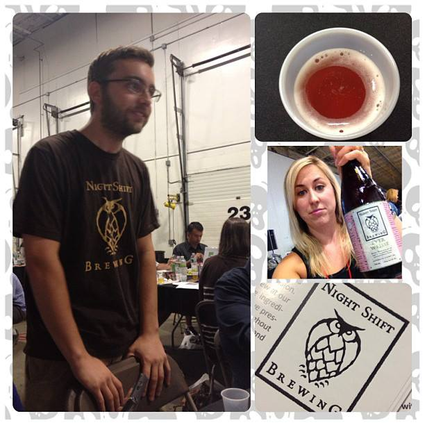 Live Beer Blogging at Burke Distributing.  Night Shift Brewing's Ever Weisse was my standout for it's tarty goodness