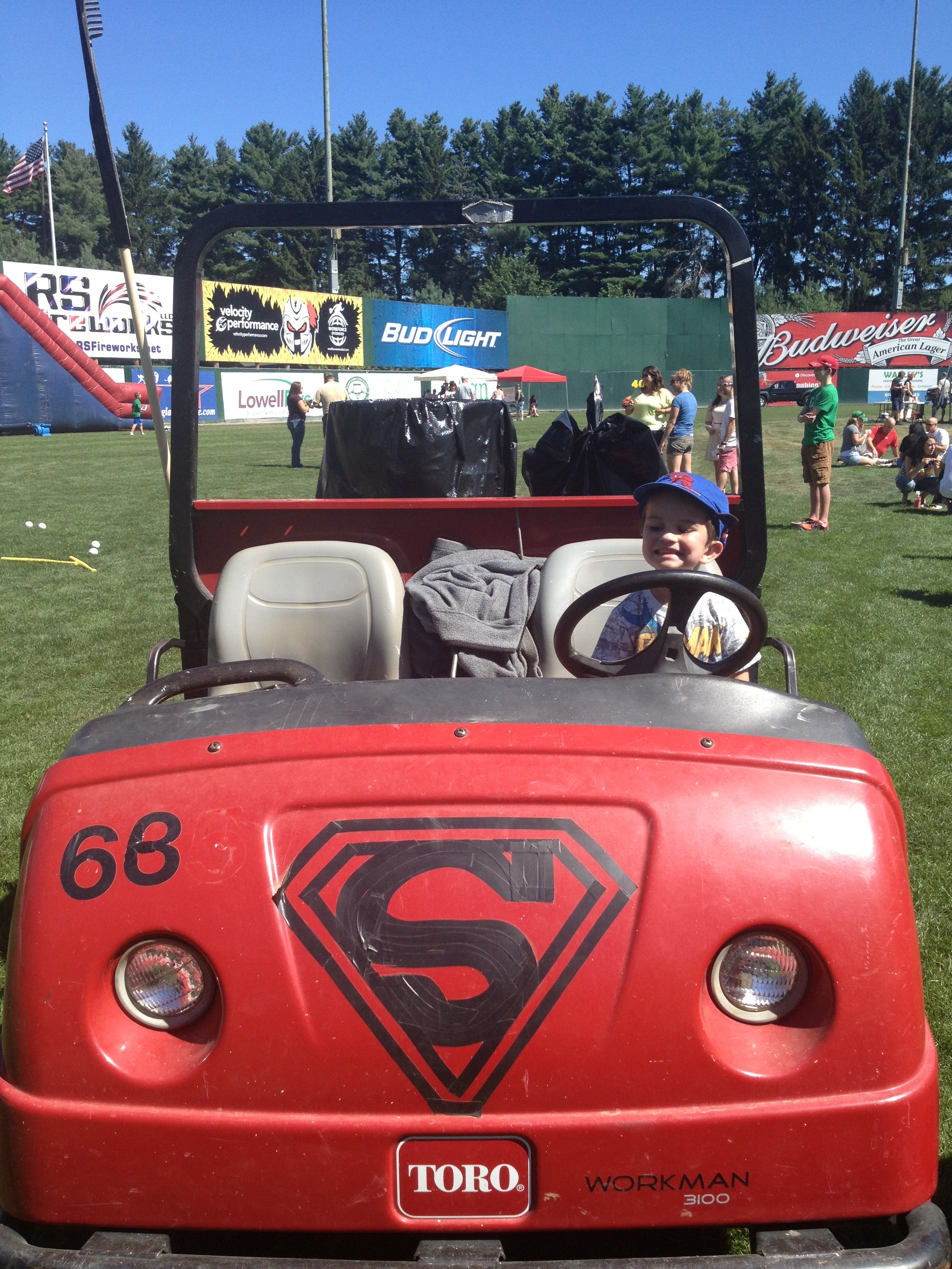"Even the grounds crew was fun--they let Patrick sit in their ""Super"" golf cart."