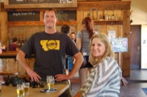 @Growlerfills & Cheryl enjoying beers @societebrewing