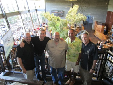 2010 - the Brewmasters Lunch with Tomme Arthur of Lost Abbey, Greg Koch, Dr. Bill Sysak (a food/wine/beer expert), DK, and Steve Wagner of Stone